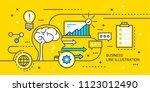 business line illustration | Shutterstock .eps vector #1123012490