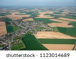 aerial view of countryside and... | Shutterstock . vector #1123014689