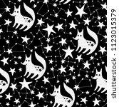 seamless hand drawn pattern.... | Shutterstock .eps vector #1123015379