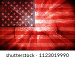 usa flag abstract background | Shutterstock . vector #1123019990