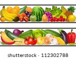 illustration set food... | Shutterstock .eps vector #112302788