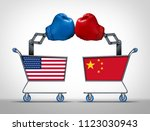 united states and china trade... | Shutterstock . vector #1123030943