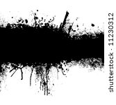 grunge banner with an inky... | Shutterstock .eps vector #11230312