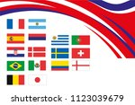 different flags of different... | Shutterstock .eps vector #1123039679