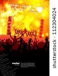 people dancing background party   Shutterstock .eps vector #112304024