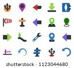 colored vector icon set  ... | Shutterstock .eps vector #1123044680