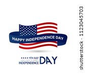 usa independence day design...   Shutterstock .eps vector #1123045703