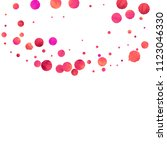 red confetti background.... | Shutterstock .eps vector #1123046330