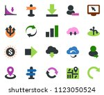 colored vector icon set  ... | Shutterstock .eps vector #1123050524