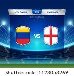 colombia vs england scoreboard... | Shutterstock .eps vector #1123053269