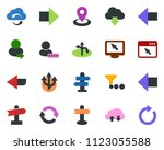colored vector icon set  ... | Shutterstock .eps vector #1123055588