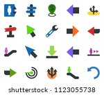 colored vector icon set  ... | Shutterstock .eps vector #1123055738