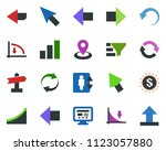 colored vector icon set  ... | Shutterstock .eps vector #1123057880