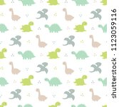 cute kids pattern for girls and ... | Shutterstock .eps vector #1123059116