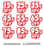 discount labels. price off tag... | Shutterstock .eps vector #1123059353