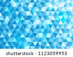blue triangle pattern background | Shutterstock .eps vector #1123059953