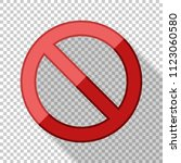 no sign in flat style with long ... | Shutterstock .eps vector #1123060580