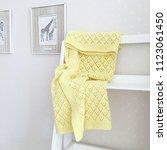 baby openwork plaid. handmade ... | Shutterstock . vector #1123061450