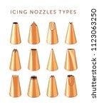 set of 12 decorating tips ... | Shutterstock .eps vector #1123063250