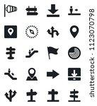set of vector isolated black... | Shutterstock .eps vector #1123070798