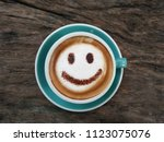a cup of coffee  cappuccino...   Shutterstock . vector #1123075076