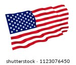 flag usa isolated on white... | Shutterstock . vector #1123076450