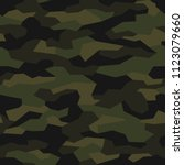 camouflage seamless pattern.... | Shutterstock .eps vector #1123079660