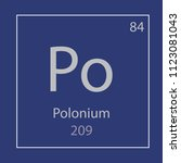 polonium po chemical element... | Shutterstock .eps vector #1123081043