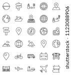 thin line vector icon set  ... | Shutterstock .eps vector #1123088906