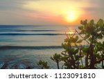 perfect wave patches in bali.... | Shutterstock . vector #1123091810