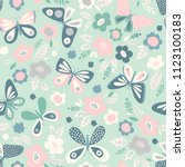 seamless pattern with... | Shutterstock .eps vector #1123100183