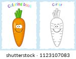 coloring book page for ... | Shutterstock .eps vector #1123107083