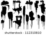 Collection of Dripping Paint Swashes. Just a collection of various size paint drips I've used frequently in my art - stock vector