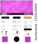 dark pink  yellow vector ui ux...