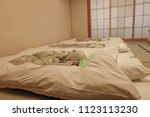 bedroom of old style japanese.... | Shutterstock . vector #1123113230
