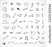 hand drawn arrows  vector set | Shutterstock .eps vector #1123134266