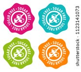 sugar free badges. eps10 vector. | Shutterstock .eps vector #1123141073