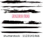 set of grunge brush strokes | Shutterstock .eps vector #1123141466