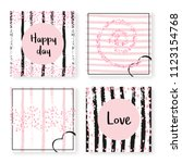 wedding invitation set with... | Shutterstock .eps vector #1123154768