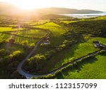 aerial view of endless lush... | Shutterstock . vector #1123157099