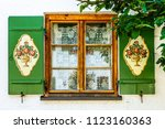 typical old bavarian window | Shutterstock . vector #1123160363