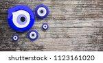 evil turkish eye amulet  in... | Shutterstock . vector #1123161020
