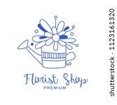 florist shop premium logo ...   Shutterstock .eps vector #1123161320