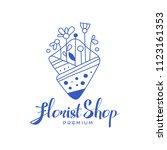 florist shop premium  design... | Shutterstock .eps vector #1123161353
