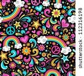 Rainbows Seamless Pattern...