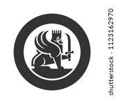 lion of persia vector logo. | Shutterstock .eps vector #1123162970