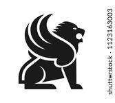 lion of persia vector logo. | Shutterstock .eps vector #1123163003