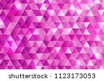pink triangle pattern background | Shutterstock .eps vector #1123173053