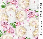 beautiful floral background... | Shutterstock . vector #1123173113