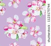 Pastel Flowers Watercolor...